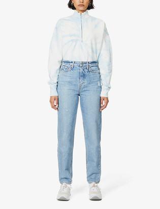 GRLFRND Devon straight-leg mid-rise jeans