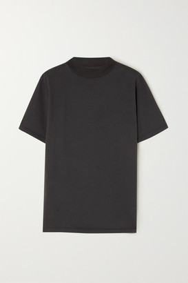 LES TIEN Cotton-jersey T-shirt - Black