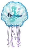 BuySeasons Mermaids Under the Sea Pull String Pinata