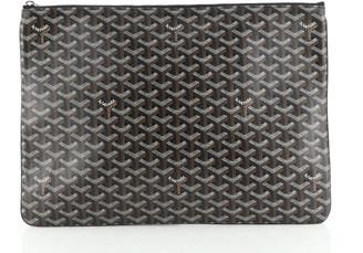 Goyard Senat Zip Pouch Coated Canvas GM