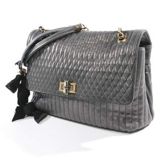 Lanvin Happy Grey Leather Handbags