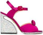 Charlotte Olympia 'Vreeland' sandals - women - Silk/Leather/PVC/rubber - 38