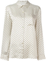 Asceno - geometric print pyjama shirt - women - Silk - S