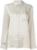 Asceno geometric print pyjama shirt