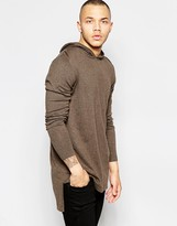 Asos Oversized Hoodie in Light Brown Cotton