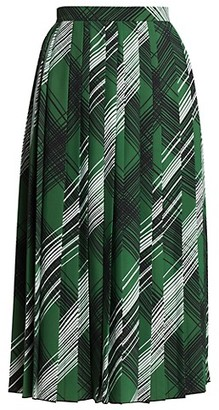 Piazza Sempione Pleated Printed Skirt