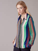 Diane von Furstenberg Long-Sleeve Collared Shirt