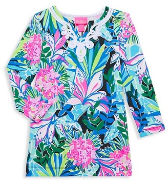 Lilly Pulitzer Little Girl's & Girl's Floral-Print Long-Sleeve Dress