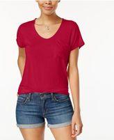 Planet Gold Juniors' High-Low Pocket T-Shirt