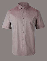 Autograph Supima Cotton Slim Fit Textured Shirt