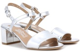 Salvatore Ferragamo Elita 55 metallic leather sandals