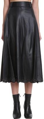 Tommy Hilfiger Skirt In Black Leather