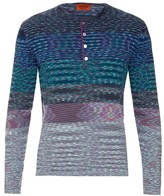Missoni Striped-knit cotton henley top