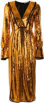Marco De Vincenzo long sleeve sequin dress - women - Silk/Polyamide/Polyester/Viscose - 40