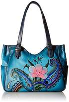 Anuschka Anna by Handpainted Leather Medium Shoulder Bag