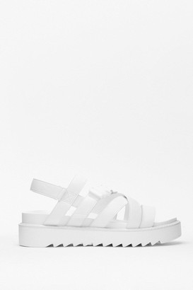 Nasty Gal Womens Don't Tell a Sole Cleated Chunky Sandals - White - 5, White