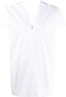 Plan C V-neck cotton blouse