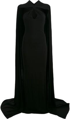DSQUARED2 cape maxi dress