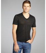 John Varvatos dark grey linen v-neck t-shirt