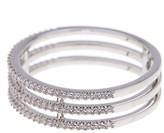 Nadri 3-Row Pave CZ Ring - Size 6
