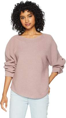 Cable Stitch Women's Boat Neck Dolman Sweater Dusty Rose X-Small