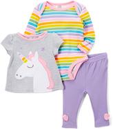 Baby Essentials Gray Unicorn Tee Set - Infant