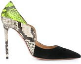 Aquazzura Suave snakeskin panel pumps