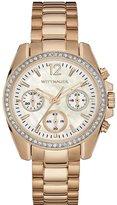Wittnauer Women's Gold Tone Steel Bracelet & Bracelet Quartz MOP Dial Chronograph Watch WN4073