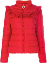 Love Moschino frilled padded jacket