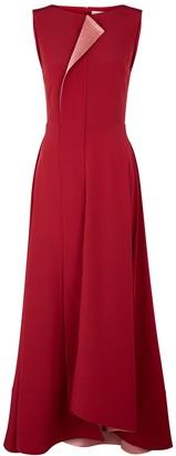 Roksanda Efilia red silk crepe de chine maxi dress