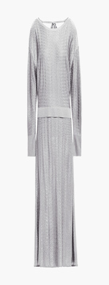 Esteban Cortazar Cutout Knitted Midi Dress
