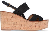 Sam Edelman Destiny Suede Cork Wedge Sandals
