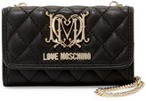 Love Moschino Faux-Leather iPhone 5 Crossbody Bag, Black