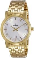 Titan Ottoman Analog Silver Dial Men's Watch - 1703YM01