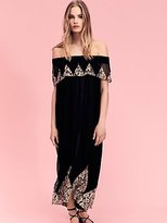 Nightcap Clothing Antique Lace High Low Maxi Dress