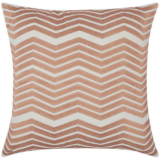 Nourison Mina Victory Luminecence Thick Chevron Throw Pillow, Rose Gold