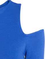 H&M Dress with Cut-out Shoulder - Bright blue - Ladies