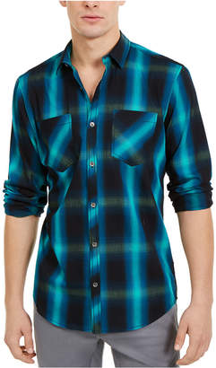 INC International Concepts Inc Men Leo Plaid Shirt