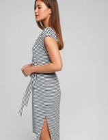 Dotti Stripe Tie Front Knit Midi Dress