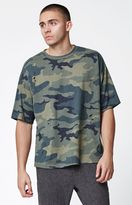 PacSun Wamo Camo Destroyed Relaxed T-Shirt