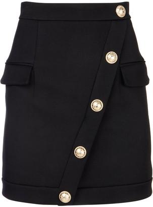 Balmain Button Embellished Pencil Skirt