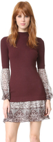 Veronica Beard Sweater Shirt Combo Dress