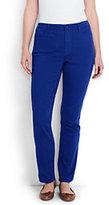Lands' End Women's Plus Size Mid Rise Straight Leg Jeans-Rich Sapphire