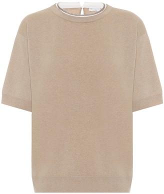 Brunello Cucinelli Wool, cashmere, and silk sweater
