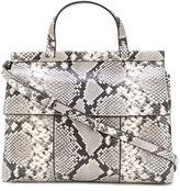 Tory Burch faux snake skin tote bag