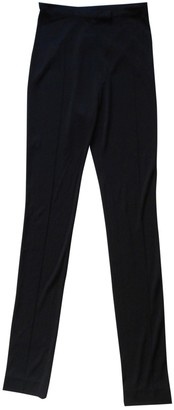 Leonard Black Viscose Trousers