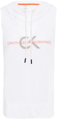 Calvin Klein Printed Jersey Hooded Top