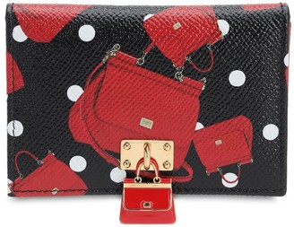 Dolce & Gabbana CRAZY FOR SICILY LEATHER CARD HOLDER