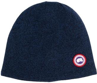 Canada Goose Logo-Patch Beanie Hat