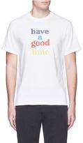 Have A Good Time Logo print cotton T-shirt